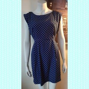 💥HOST PICK 💥 Vintage Blue Dress 60s Polka dots